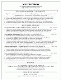 office manager resume template administrative assistant or office manager resume template sle
