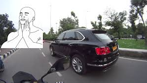 2017 bentley bentayga trunk cab almost crashes into jaguar bentley bentayga daily observations