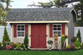 Gambrel Garage by Buy Wooden Storage Sheds Direct From The Amish Builders