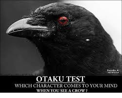 Crow Meme - 100213 oodoa chiha otaku test which character comes to your mind