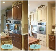 diy painting kitchen cabinets before after painted cabinets