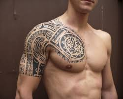 tribal chest and shoulder tattoos chest and shoulder 45