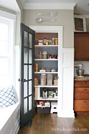 gaining kitchen storage from thrifty decor