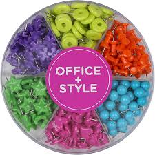 amazon com decorative multi colored shaped push pins for home