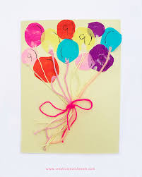 birthday cards for kids bunch of balloons birthday card craft for kids creative