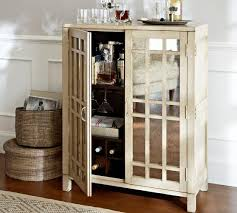 Mirrored Bar Cabinet Antique Mirror Paneled Front Bar