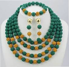 beaded jewelry design necklace images New fashion african beads jewelry set coral beads jewelry set jpg