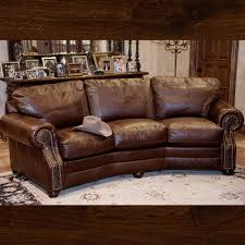 brown leather sofa with croc accents brumbaugh u0027s fine home