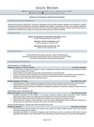 Elementary Teacher Resume Examples by Education Resume Examples Resume Professional Writers
