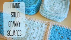 how to join crochet squares completely flat zipper method crochet how to join solid granny squares bella coco youtube