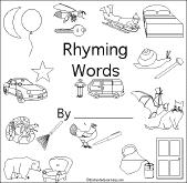 printable rhyming words rhyming words early reader book enchantedlearning