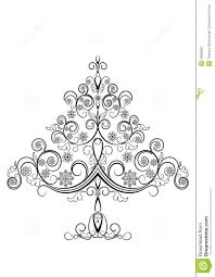 openwork tree with snowflakes stock vector image 28083607