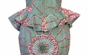 sale african print peplum dress robyn ohema ohene cape town