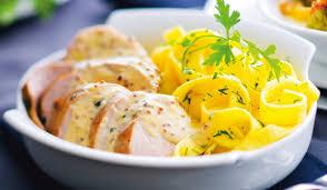 plat cuisiné picard filet mignon de porc sauce à la moutarde et tagliatelles surgelés