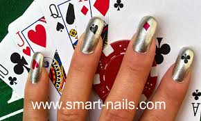 how to apply the cards nail art design from smart nails youtube