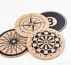 cork coasters stenciled cork coasters inspired by anthropologie