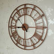 large wall clock large copper skeleton clock melody maison