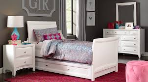 Simple White Bed Frame Fancy Bedroom Sets For Little Girls Homesfeed