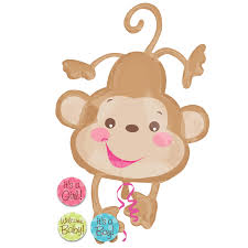 baby shower monkey baby shower balloons home fisher price baby monkey jumbo foil