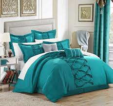 aqua ruffle comforter com chic home 8 piece ruth ruffled comforter set queen