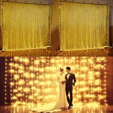 wedding backdrop fairy lights ucharge curtain icicle lights 300 led 9 8ft x 9 8ft