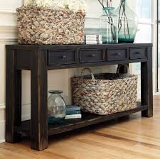 Black Entryway Table Distressed Weathered Console Table Vintage Black Console Tables