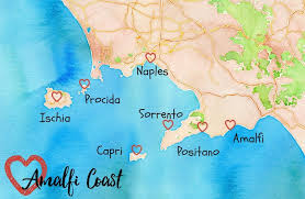 coast map the amalfi coast map towns to visit of wanderlust