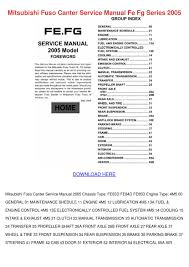 mitsubishi fuso canter service manual fe fg s by lupejensen issuu