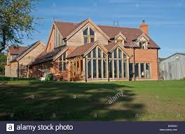 Frame House House Eco House Timber Clad House Stock Photo Royalty Free