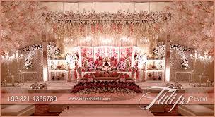 Beautiful Wedding Stage Decoration Tulips Event Best Pakistani Wedding Stage Decoration Flowering