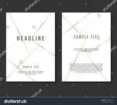 luxury minimalism design vector template layout stock vector
