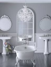 Bathroom Ideas In Grey Victorian Grey Bathroom Ideas With Built In Tub And Pedestal Sink
