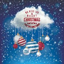 2014 merry christmas decor ball vector background 02 vector