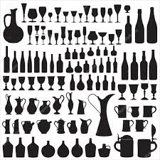 champagne silhouette champagne bottle stock vectors royalty free champagne bottle