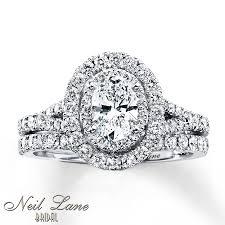 neil bridal set neil bridal set 1 1 2 ct tw diamonds 14k white gold