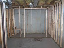 trendy framing a basement wall with a door basement insulation