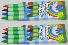 amazon 8 green stripes crayons 4 colors green blue black