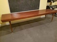 Slat Bench Coffee Table La Scavenger Mid Century Modern Expandable Slat Bench For 225