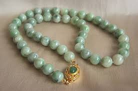 jade beads necklace images A beautiful vintage jadeite jade bead necklace 18 1 4 quot skgallery jpg