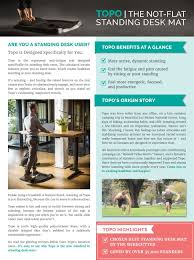 amazon com topo by ergodriven the not flat standing desk anti