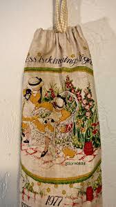 repurposed calendar tea towels little vintage cottage