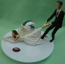 football cake toppers wedding cake topper miami dolphins g football themed w garter