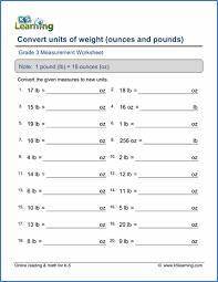 Gallon Worksheet Grade 3 Measurement Worksheets Free Printable K5 Learning