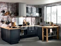 cuisin ikea beautiful cuisine bois et noir ideas design trends 2017
