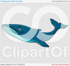 clipart of a cartoon happy humpback whale royalty free vector