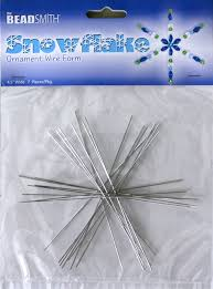 beadsmith snowflake ornament wire forms 4 5 wide