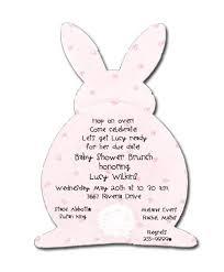 rabbit invitation pink bunny baby shower invitations myexpression 2780