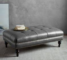 Leather Ottoman Tufted Leather Ottoman Coffee Table With Tray Picadilly Pinterest