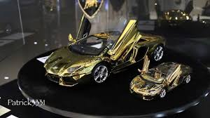 lamborghini car gold lamborghini aventador 1 8 scale model in real gold us 350 000