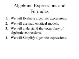 algebraic expressions ppt video online download